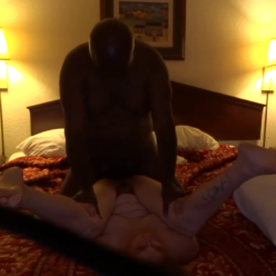 Black Stud Pushing His BBC Deep In White Married Cunt