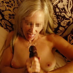 Cheating Blonde MILF Getting BBC Cumshot On Her Face